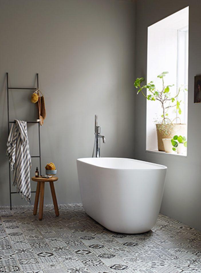 5 vackra målade badrum'