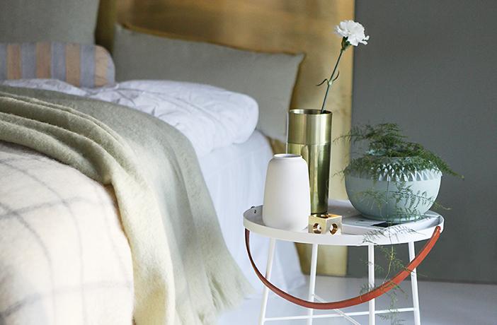 Grön harmoni i sovrummet