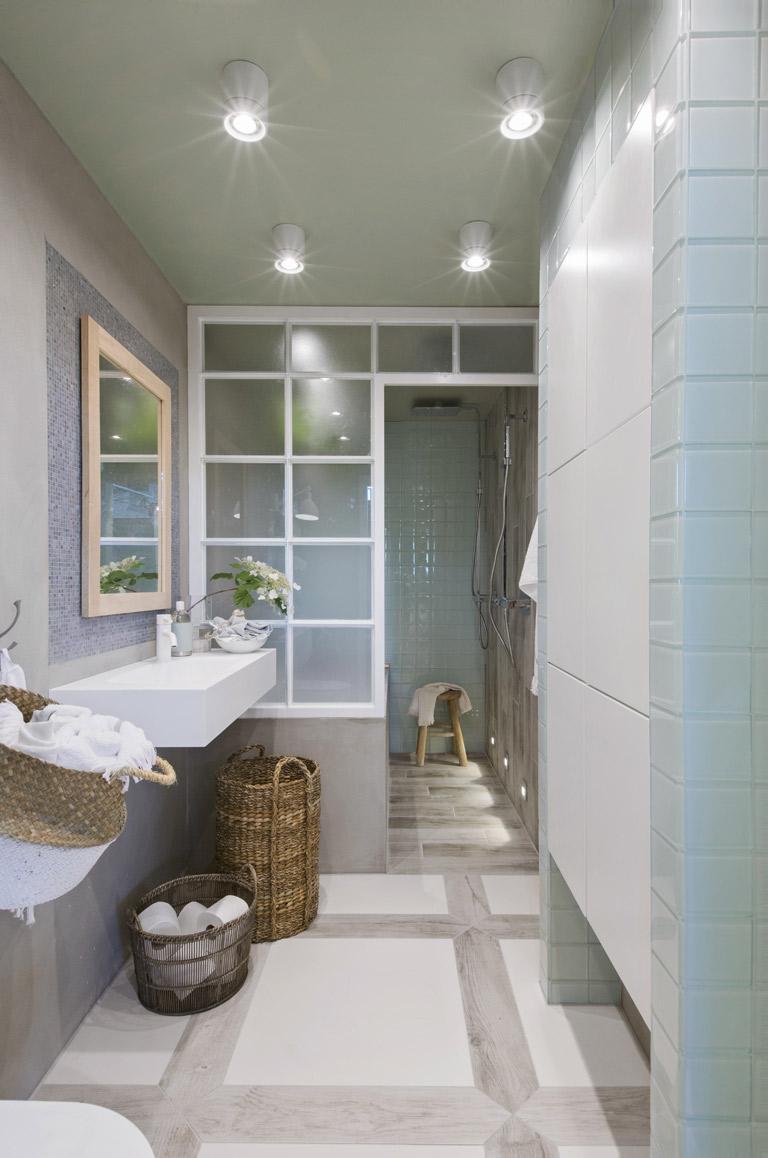 Skandinavisk stil i badrummet