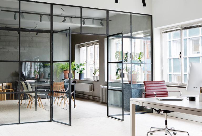 Stilfullt kontor med själ