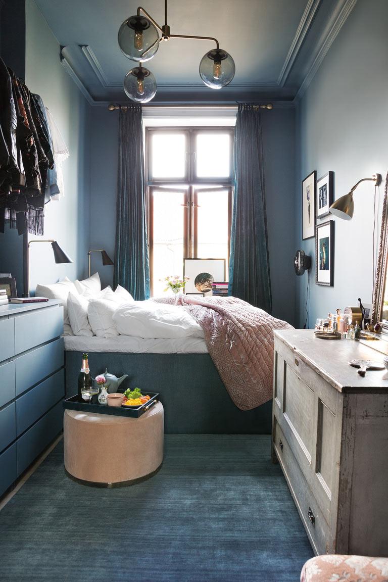 Litet sovrum blir blått och mysigt LADY Inspirationsblogg