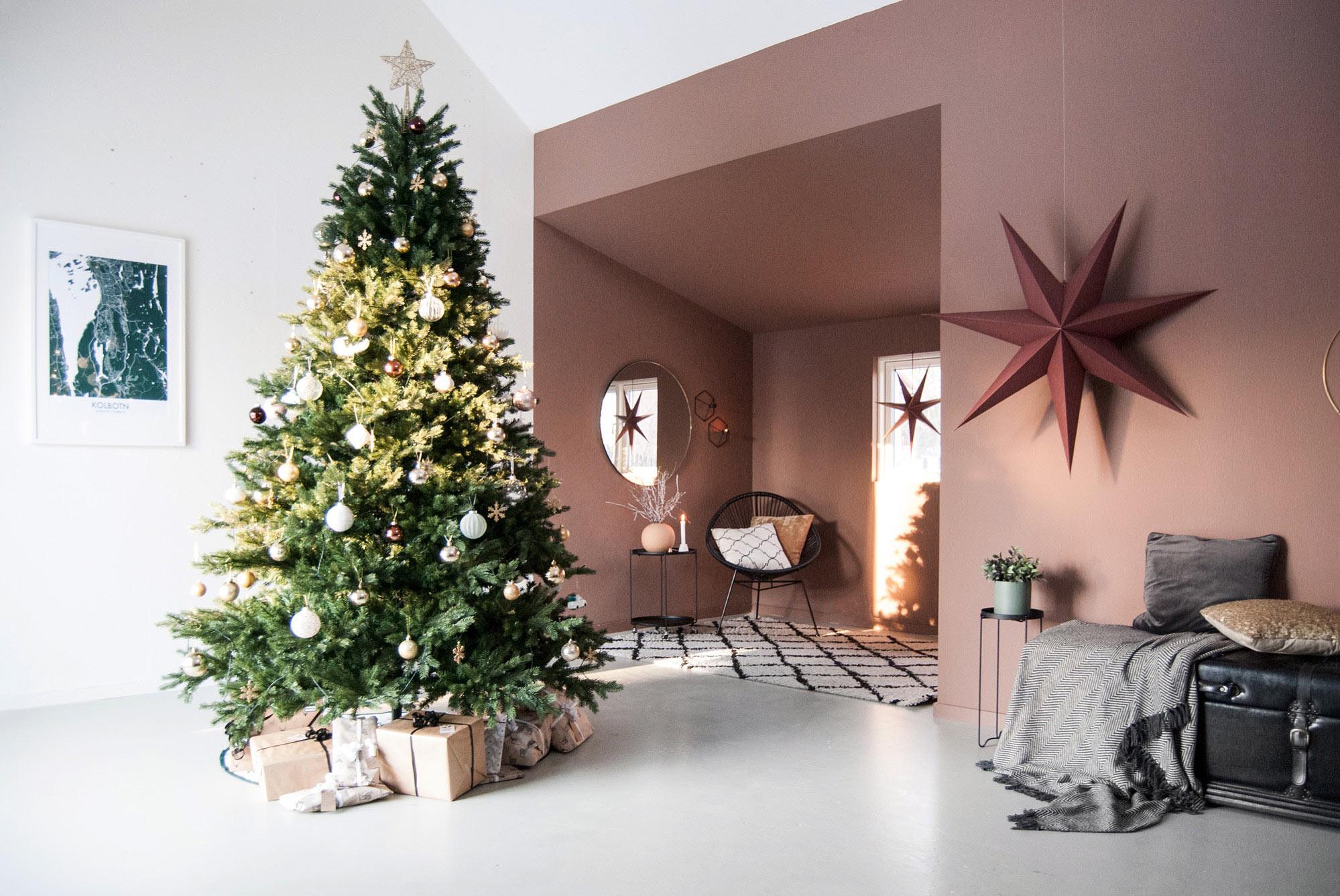 Jul i varma färger hos Vibeke
