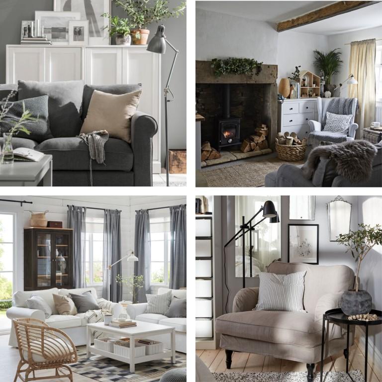 IKEA grå beige stugpalett