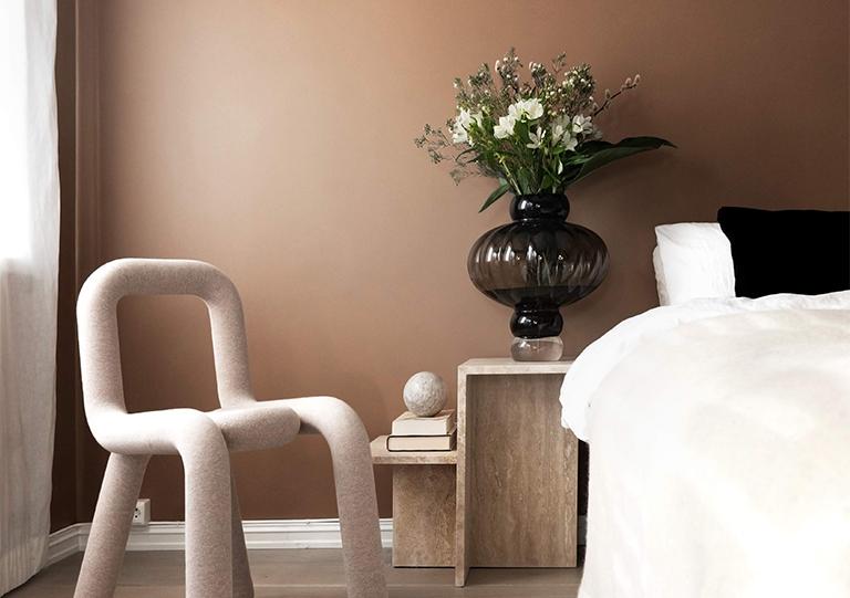 Varmt och elegant i sovrummet